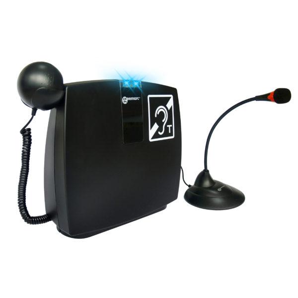Loophear 102 palvelitiskisilmukka kuulokkeella ja mikrofonilla