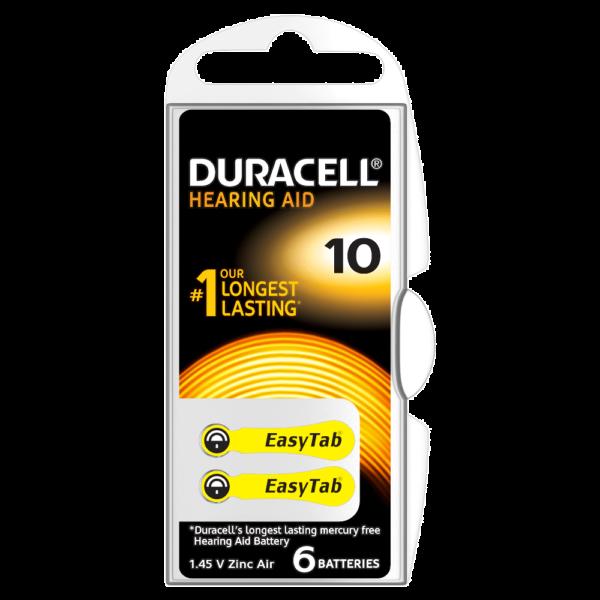 Duracell 10 kuulokojeparisto