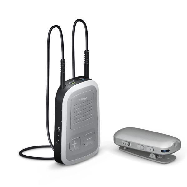 Phonak Compilot langattoman Remote mic mikrofonin kanssa
