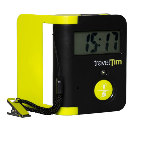 TravelTim matkaherätyskello edestä